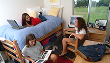 students studying in bedroom