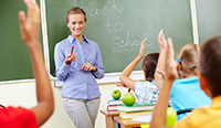 teacher leading class