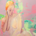 Painting of a reclining female figure