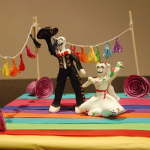 Photo of miniature Day of the Dead skeleton figures