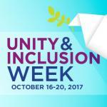 Unity & Inclusion Week, October 16-20, 2017