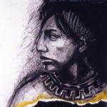 Print of a profile view of a person