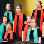 Choral students perform