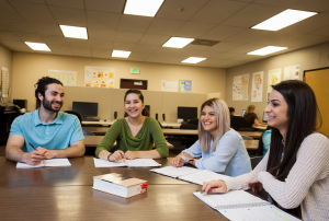Students form a study group